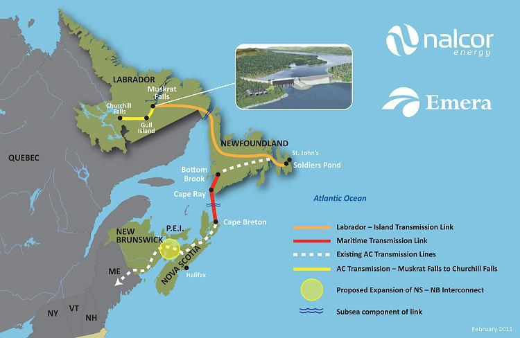 Muskrat Falls Map lower churchill   muskrat falls map   1310 NEWS