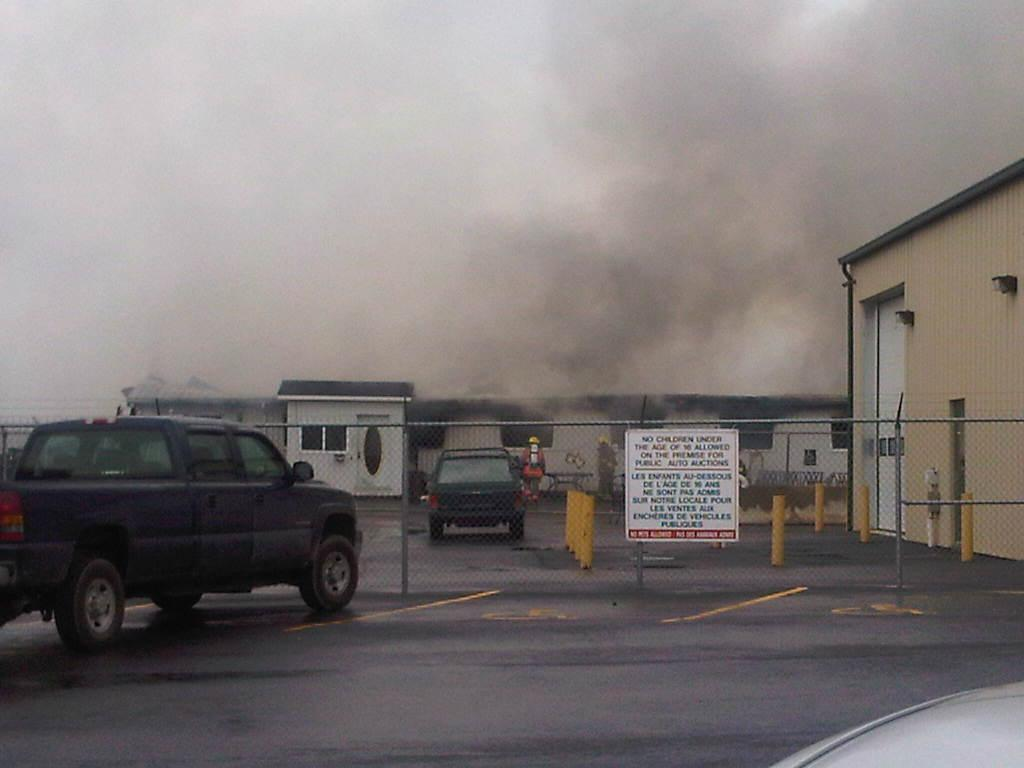 Fire destroys auction liquidation warehouse in Winchester