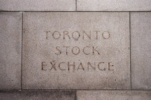 The fading name on the building in Toronto that used to house the Toronto Stock Exchange on is seen on August 18 2011. THE CANADIAN PRESS/Aaron Vincent Elkaim