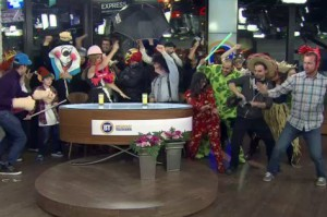 Breakfast Television performs the Harlem Shake on Feb. 13, 2013.