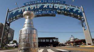 The Stanley Cup is on display Thursday, July 17, 2014, in Sea Isle, N.J. The NHL announced that the Stanley Cup final will open with Game 1 on Wednesday, June 3 in either New York, Tampa or Anaheim. THE CANADIAN PRESS/AP/The Press of Atlantic City, Dale Gerhard) MANDATORY CREDIT