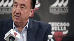 Chicago Bulls general manager Gar Forman speaks to reporters about the team's decision to fire head coach Tom Thibodeau Thursday, May 28, 2015 at the United Center in Chicago. (Anthony Souffle/Chicago Tribune via AP) MANDATORY CREDIT CHICAGO TRIBUNE; CHICAGO SUN-TIMES OUT; DAILY HERALD OUT; NORTHWEST HERALD OUT; THE HERALD-NEWS OUT; DAILY CHRONICLE OUT; THE TIMES OF NORTHWEST INDIANA OUT; TV OUT; MAGS OUT; NO SALES
