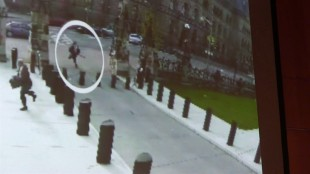 The NDP's defence critic says he hopes the Conservative government doesn't intend to use Parliament Hill gunman Michael Zehaf Bibeau's final video manifesto to ramp up fears about terrorism. Bibeau is shown carrying a gun while running towards Parliament Hill in Ottawa on Wednesday, Oct. 23, 2014 in a still taken from video surveillance in this handout photo. THE CANADIAN PRESS/HO - RCMP