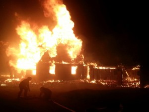 Fire destroyed the William Cross homestead in Gatineau Park, May 21, 2015.
