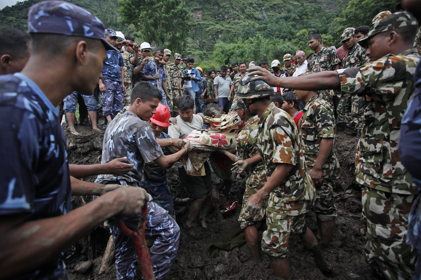 landslide in a village The landslide took place in xinmo village of mao county in sichuan province.