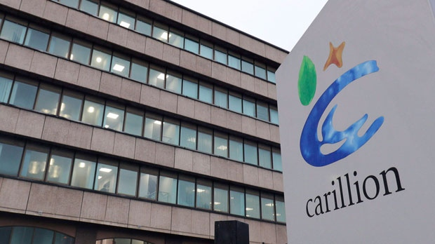 Canadian arm of UK construction giant Carillion files for