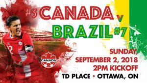 International soccer returns to TD Place as Canada's Women's National Team hosts Brazil on Sunday, September 2nd.