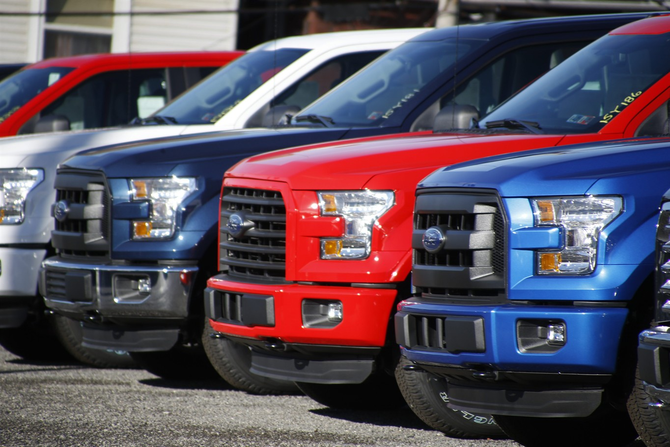 19 2015 File Photo A Row Of Ford F 150 Pickup Trucks Are Parked On The Sales Lot At Butler County In Pa